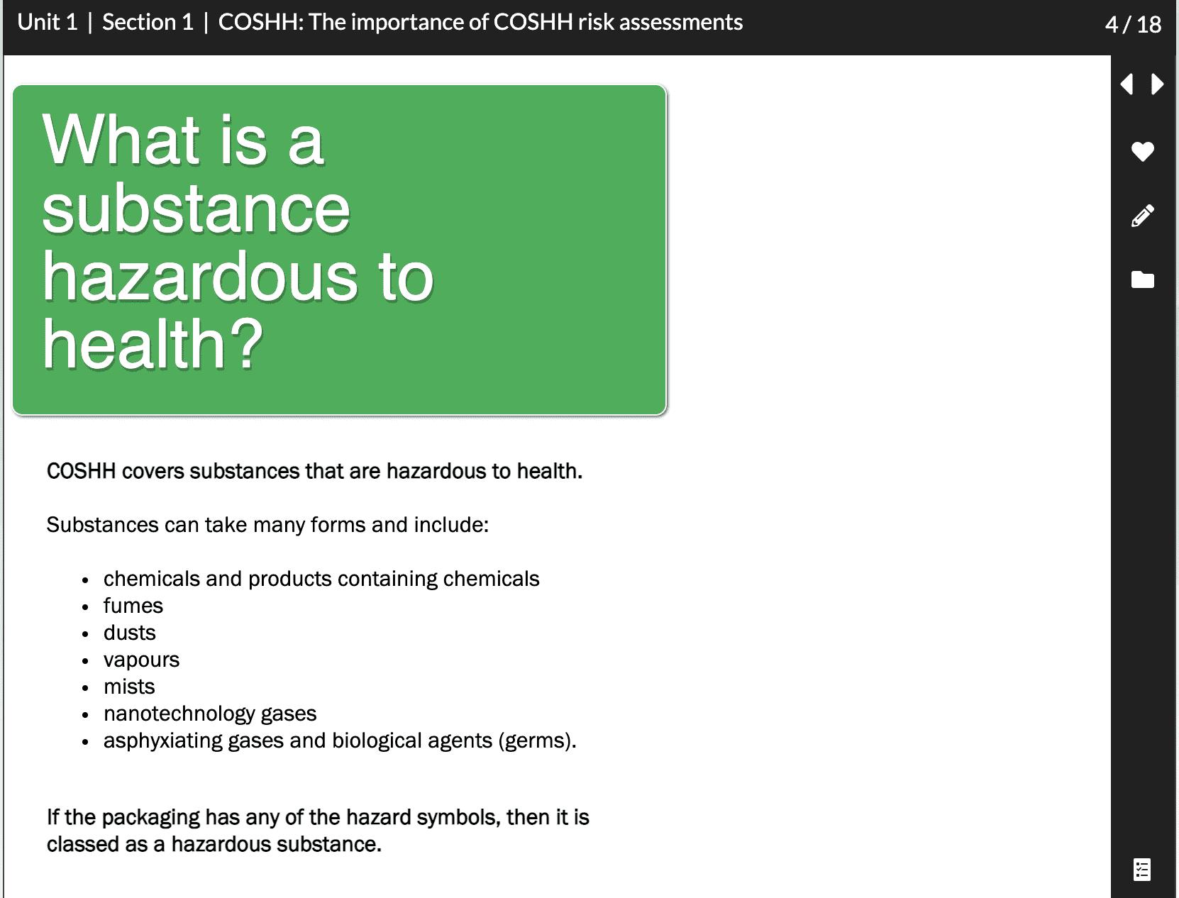 COSHH risk assessment dental CPD