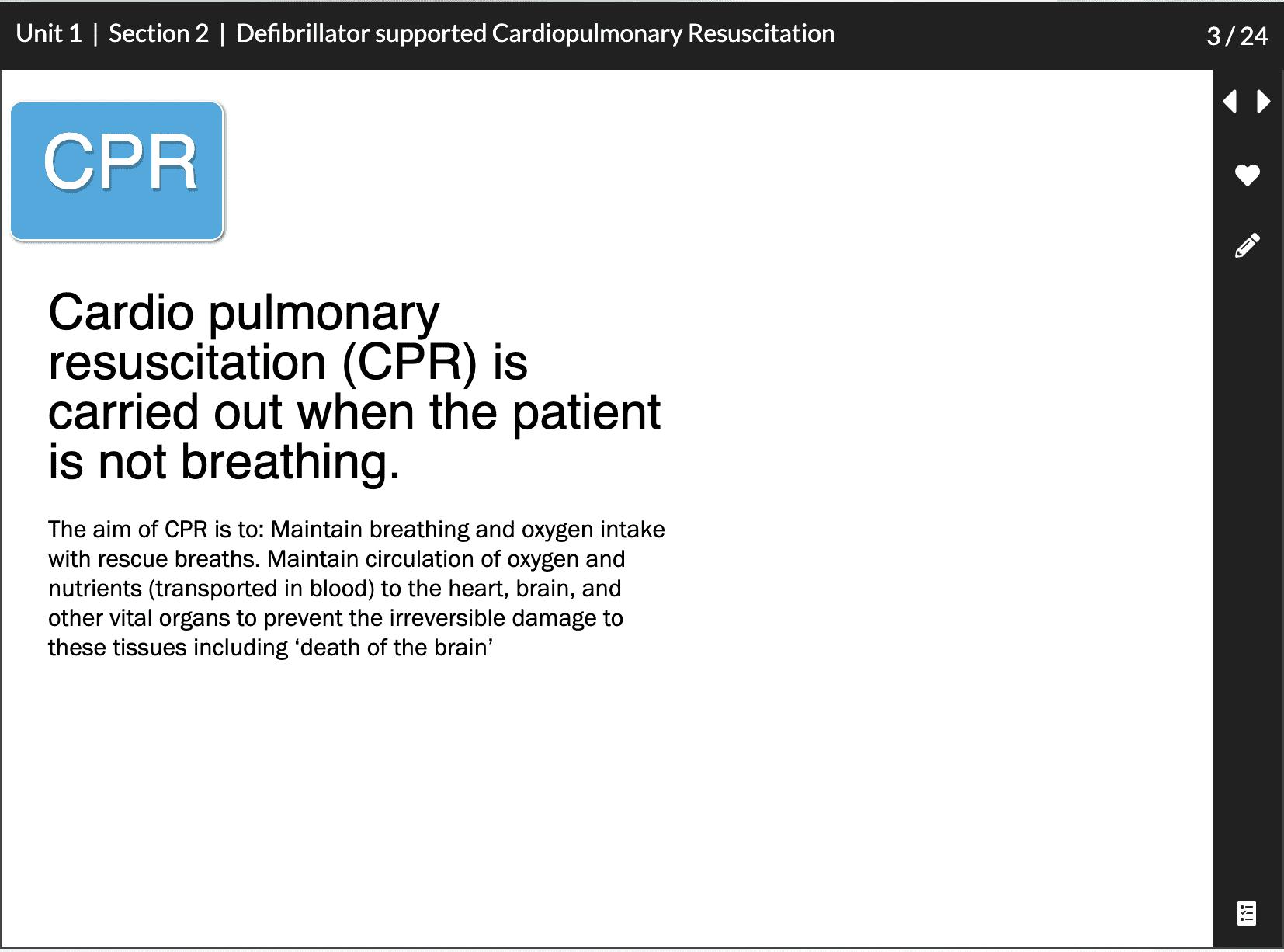 Defibrillator supported Cardiopulmonary Resuscitation