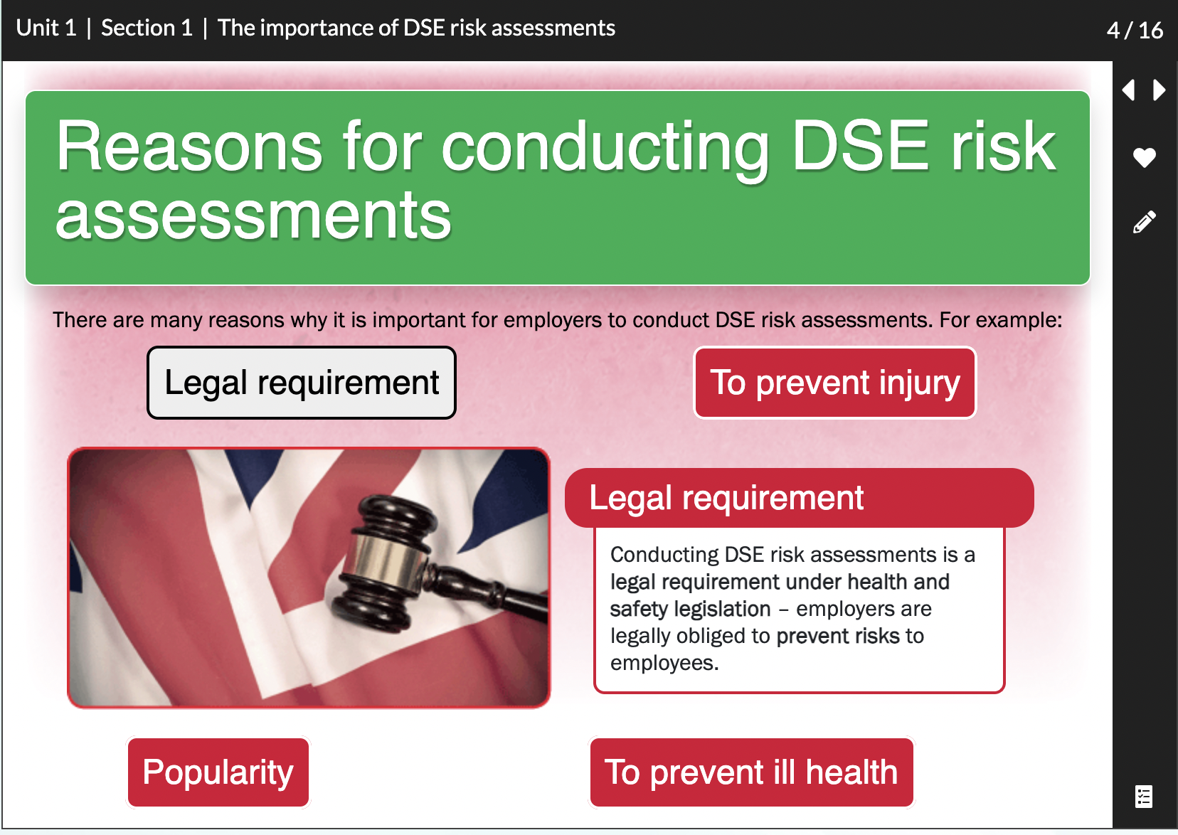 The importance of DSE risk assessments