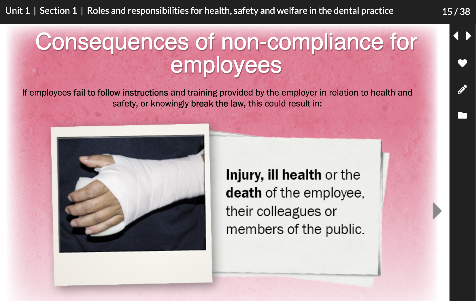 health, safety and welfare in the dental practice